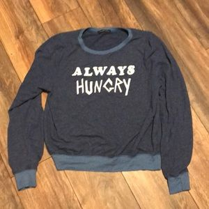 "Wildfox Size M ""always hungry"" Sweatshirt"